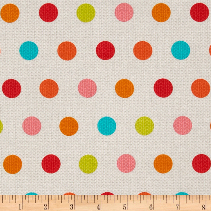 Michael Miller Textured Basics Cool Dots Multi Fabric