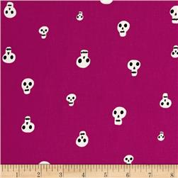 Cotton + Steel Boo Skull Charms Berry