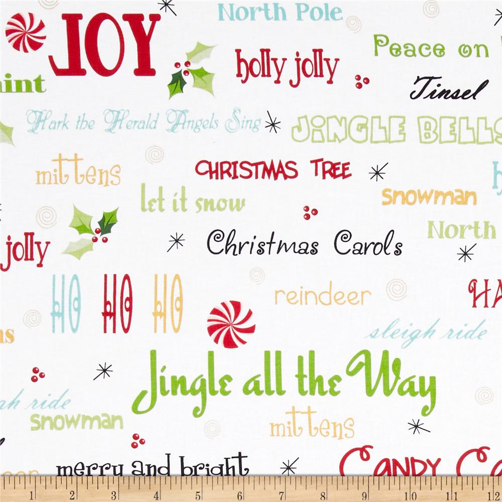 Peppermint Twist Christmas Words White