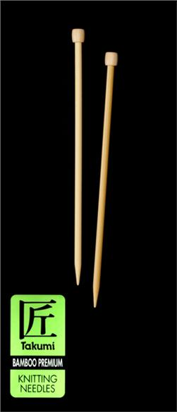 Clover Takumi Bamboo Premium Knitting Needles Single Pt. 9''-US 10 (6mm)
