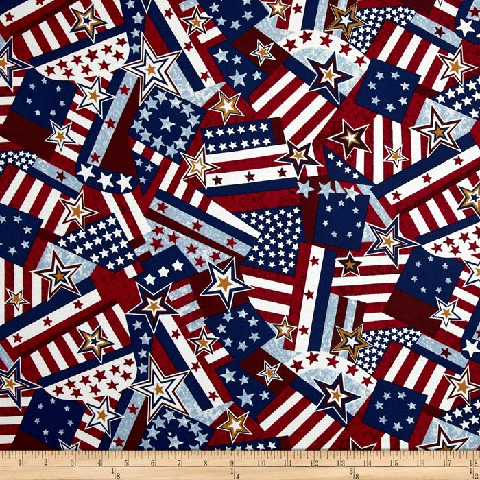 Quilts of Valor Packed Flag Vintage