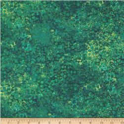 "Artisan Spirit Shimmer 108"" Wide Quilt Backing Green/Blue"