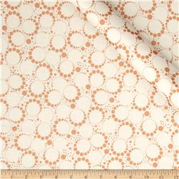 Orbit Metallic Small Circle Dot Copper/Cream Fabric