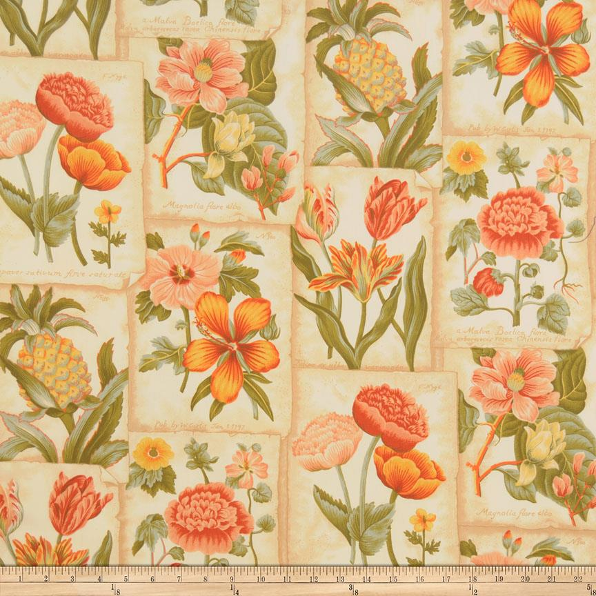 home decor fabric mount vernon botanic garden botanical designer 12971
