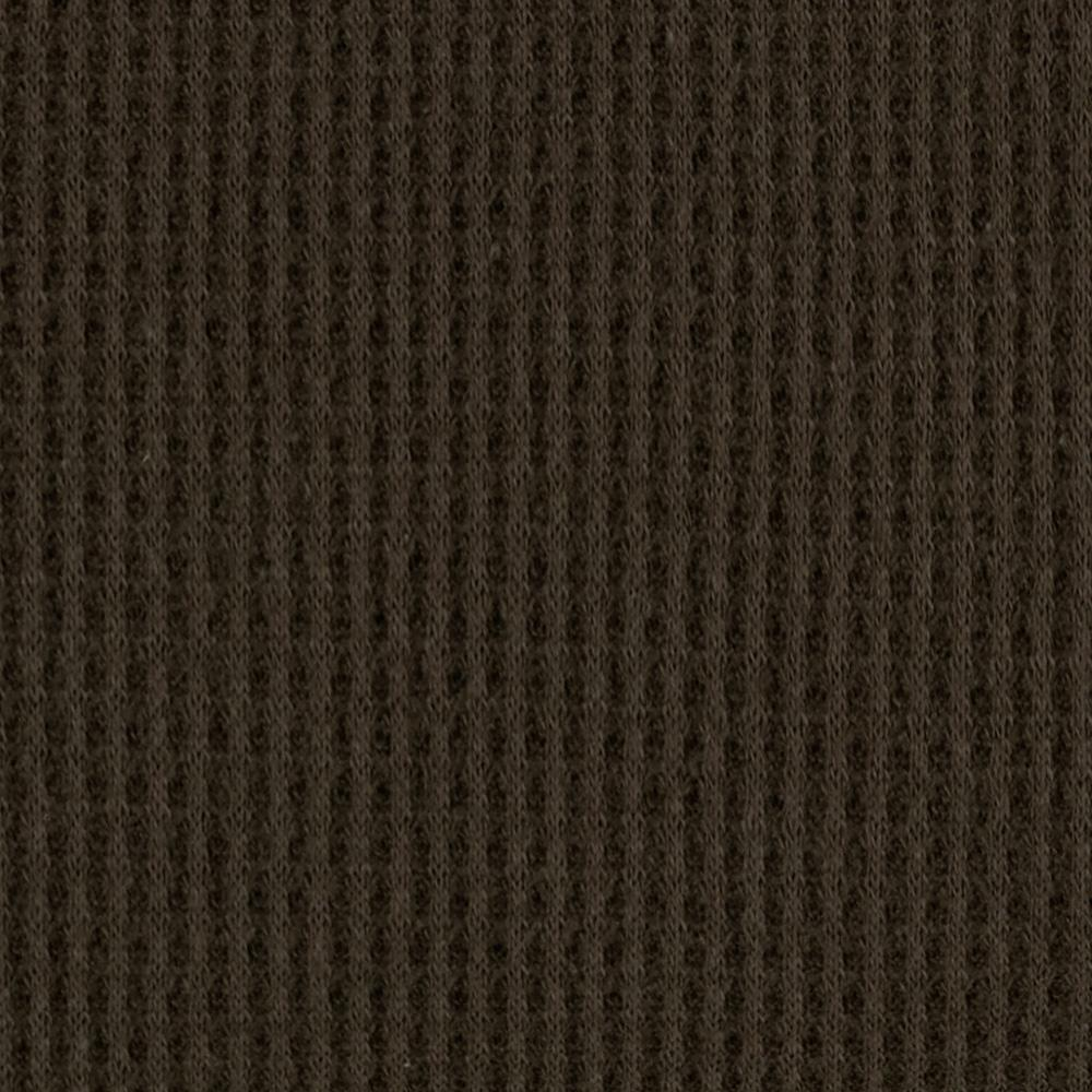 Cotton Thermal Knit Chocolate Discount Designer Fabric