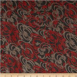 Chiffon Yoryu Swirly Blooms Red