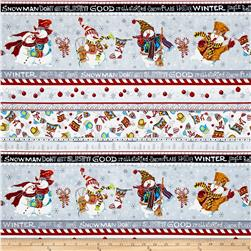 Snowman Christmas Snowman Stripe Black