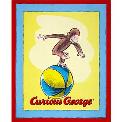 Universal Curious George 36'' Panel Red