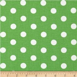 Spot On Polka Dots Lime Green Fabric