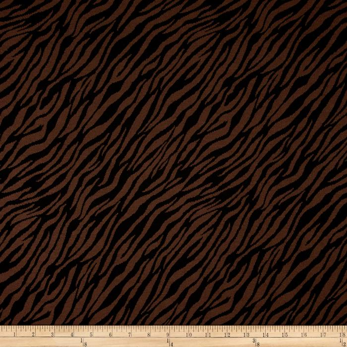 Jacquard Knit Zebra Print Brown/Black