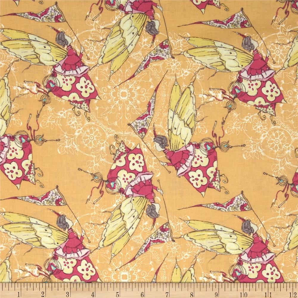 Tina Givens Feather Flock Princess Feather Yellow