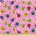 Quilting Treasures Monster Mash Mini Monster Toss Pink
