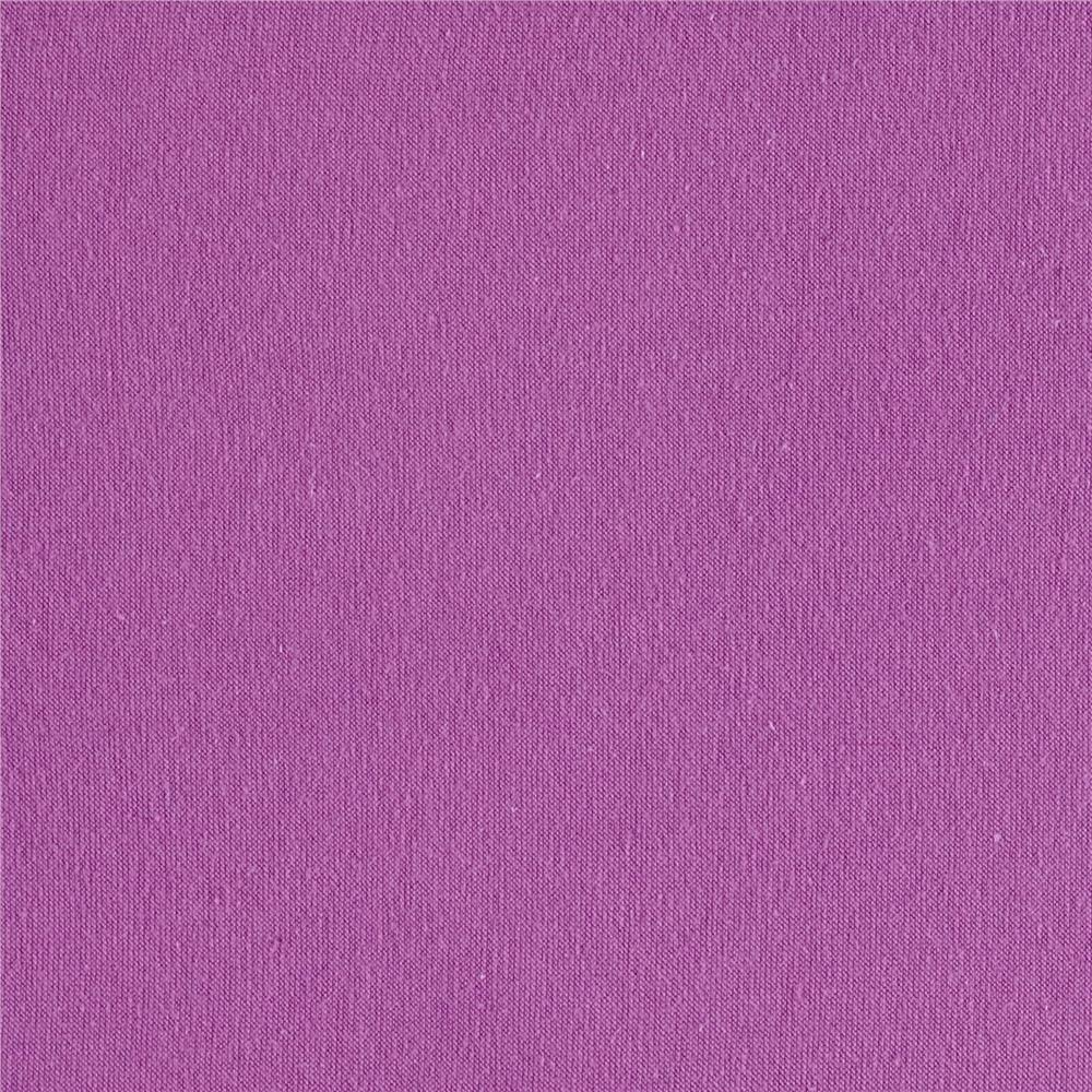 Cotton Spandex Knit Solid Lavender