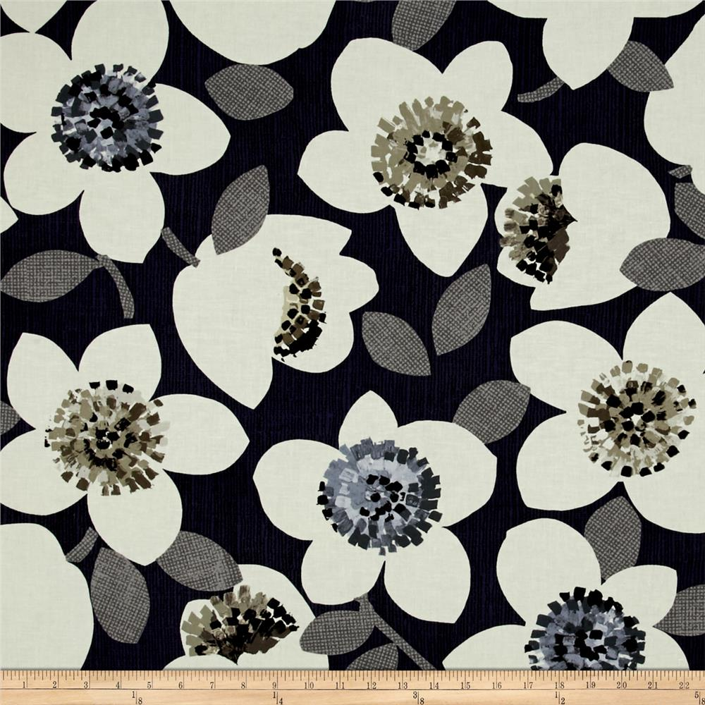 Contempo Cachet Large Floral Black