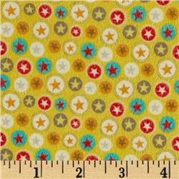 Riley Blake Boy Crazy Flannel Stars Yellow Fabric