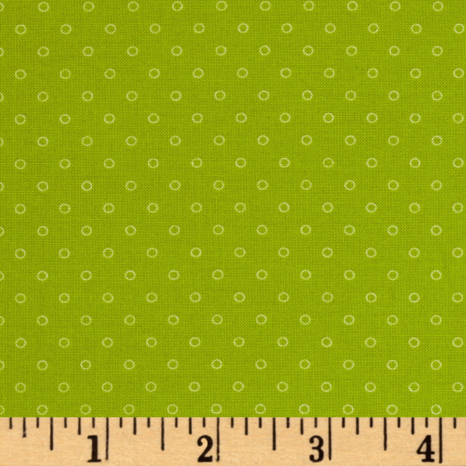 Candy Land Dots Sour Apple Fabric by Windham in USA