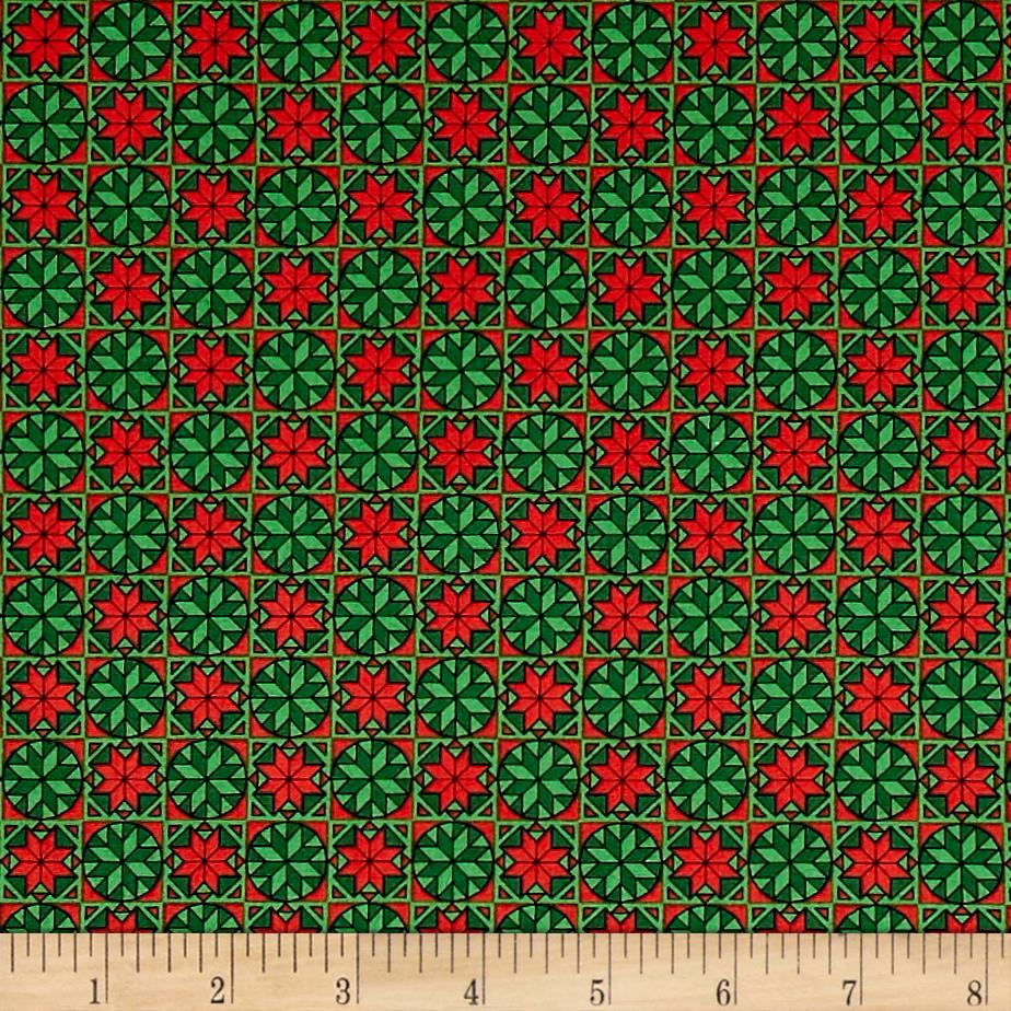 Home For The Holiday Snowflake Tiles Green