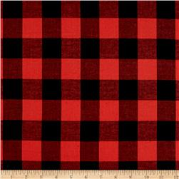 Cotton Lawn Buffalo Plaid Black/Grenadine
