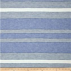 Pisa Stripe Linen Navy/Denim/Beige