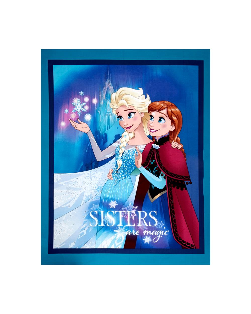 Disney Frozen Sisters Are Magic 36 In. Panel Blue Fabric By The Yard
