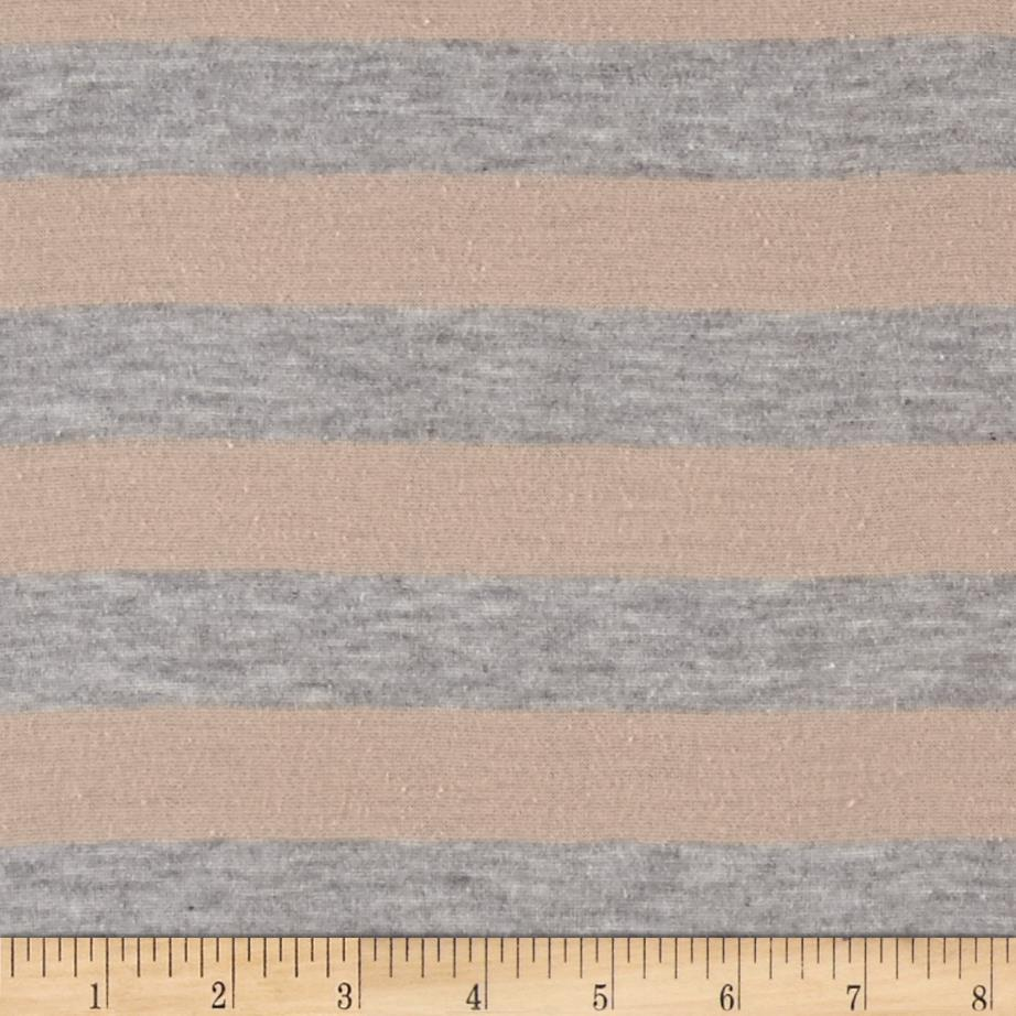 Tissue Jersey Knit Rose Heather Grey  Fabric