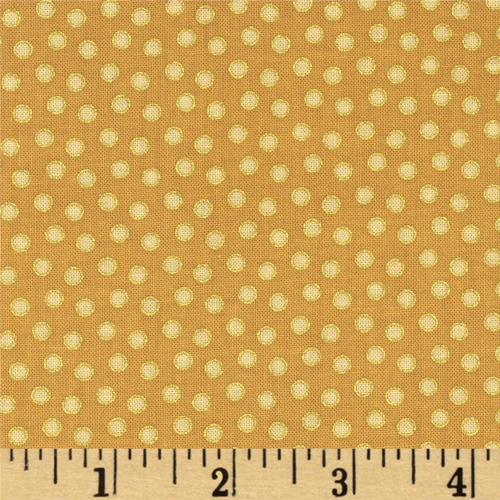 Home For The Holidays Metallic Dot Gold