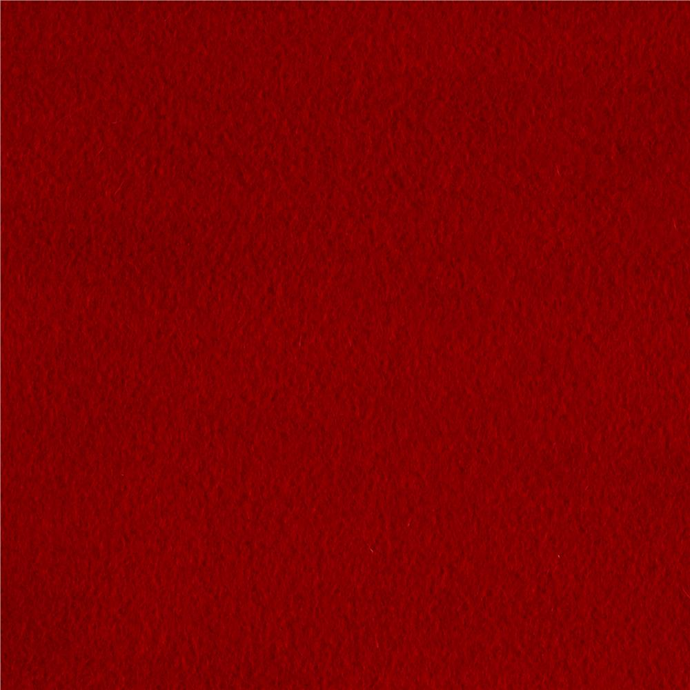 Luxury Wool Cashmere Melton Bright Red Discount Designer