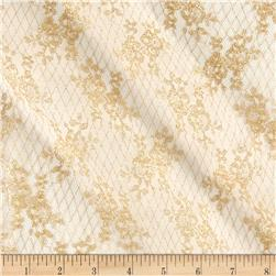 Nylon Metallic Lace Gold