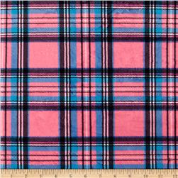 Minky Classic Plaid Pink Fabric
