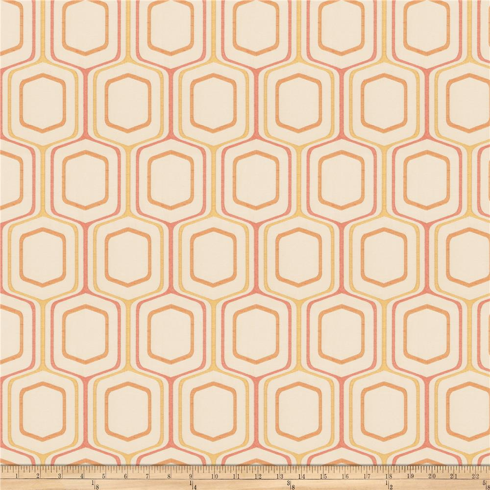 Fabricut Four Square Jacquard Papaya