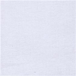 Basic Cotton Rib Knit Ice White