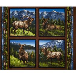"Wild Wings Elkmont Ridge Pillow Panel-36"" Multi"