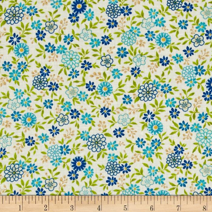 Salsa Flowers Blue