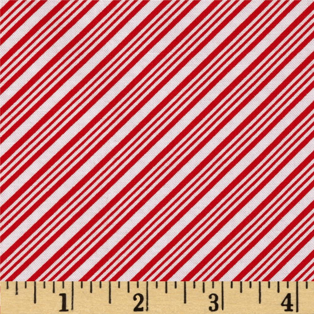 Peppermint Penguin Bias Stripe Red