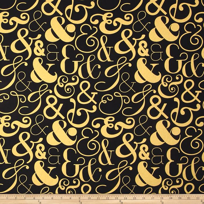 Bold & Gold Metallic Ampersand Multi