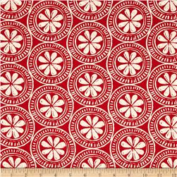 Moda Beach House Medallions Red