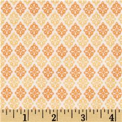 Riley Blake A Beautiful Thing Flannel Diamonds Orange