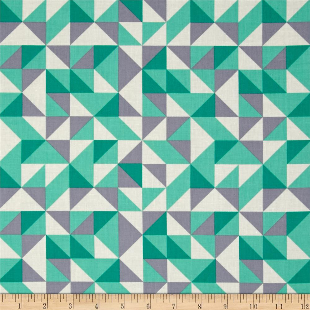 Kaufman Fragmental Diamond Plaid Park