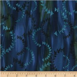 Timeless Treasures Judy Niemeyer's Reclaimed West Dark Currents Blue