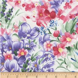 Timeless Treasures Wildflowers Watercolor Multi