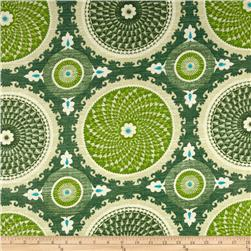 Waverly Bohemian Swirl Slub Jade Fabric