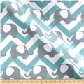 RCA Ella Chevron Sheers Jade/Grey