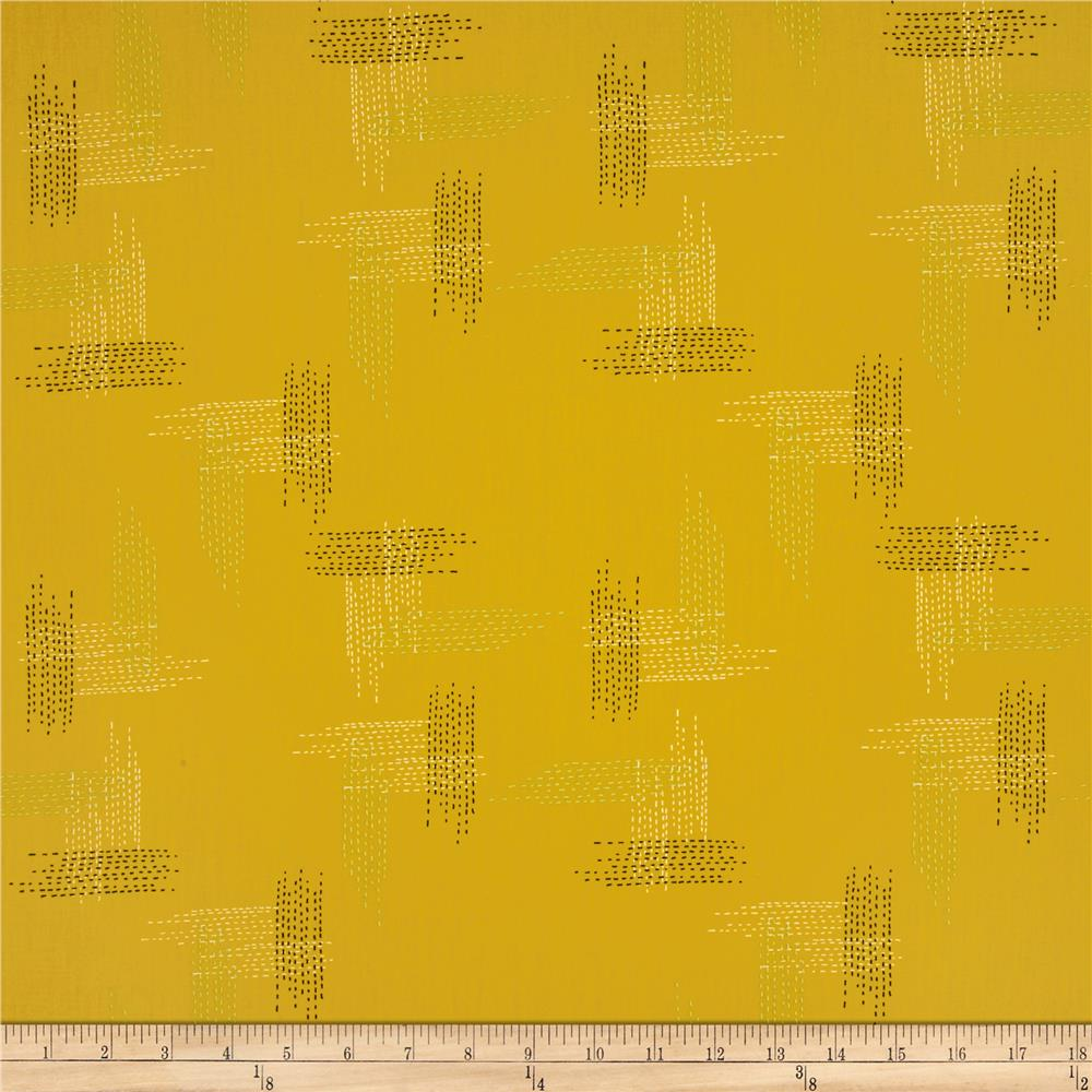 Art Gallery Millie Fleur Miss Thread Dijon Fabric