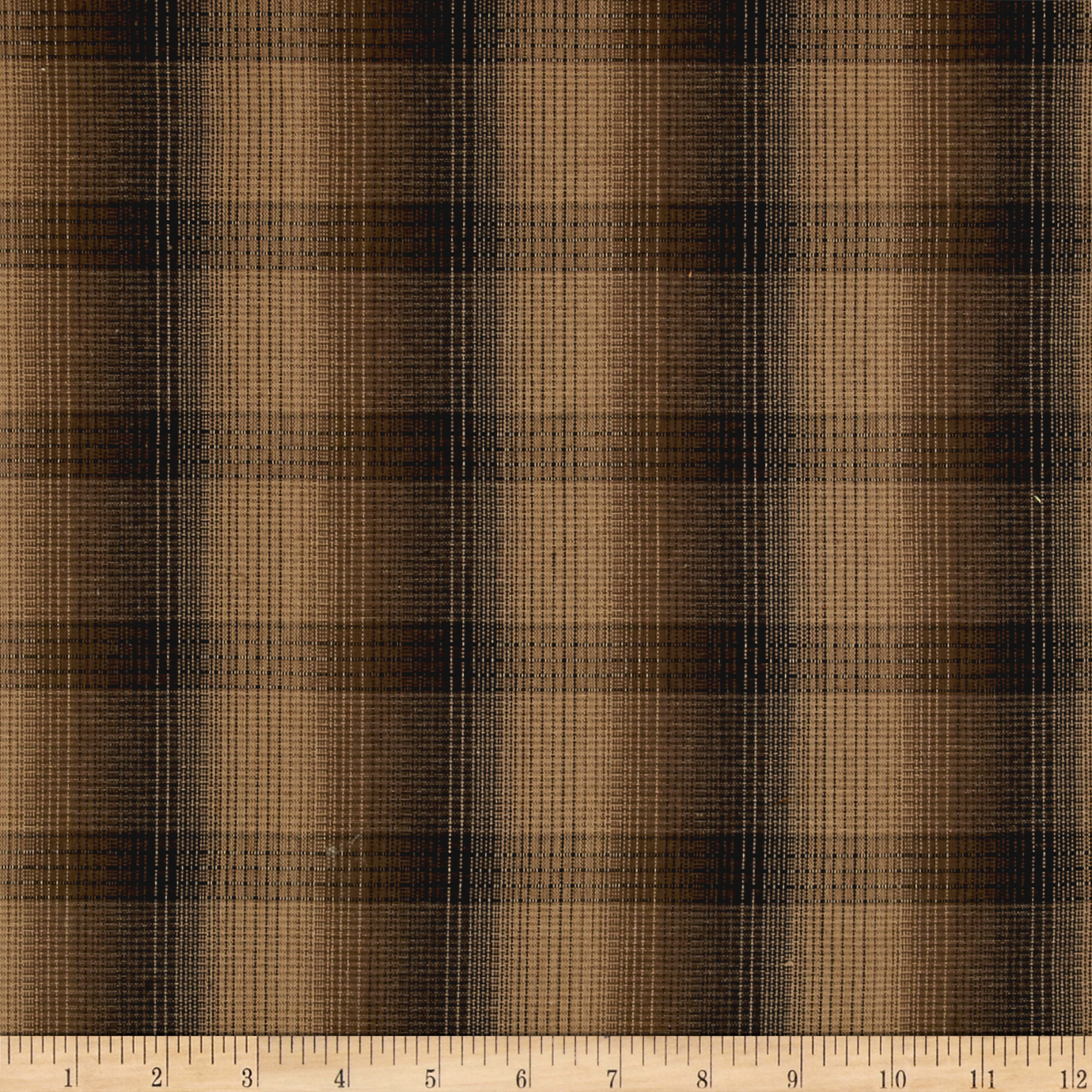 Intermix Dobby Shirting Plaid Brown Fabric by Stardom Specialty in USA