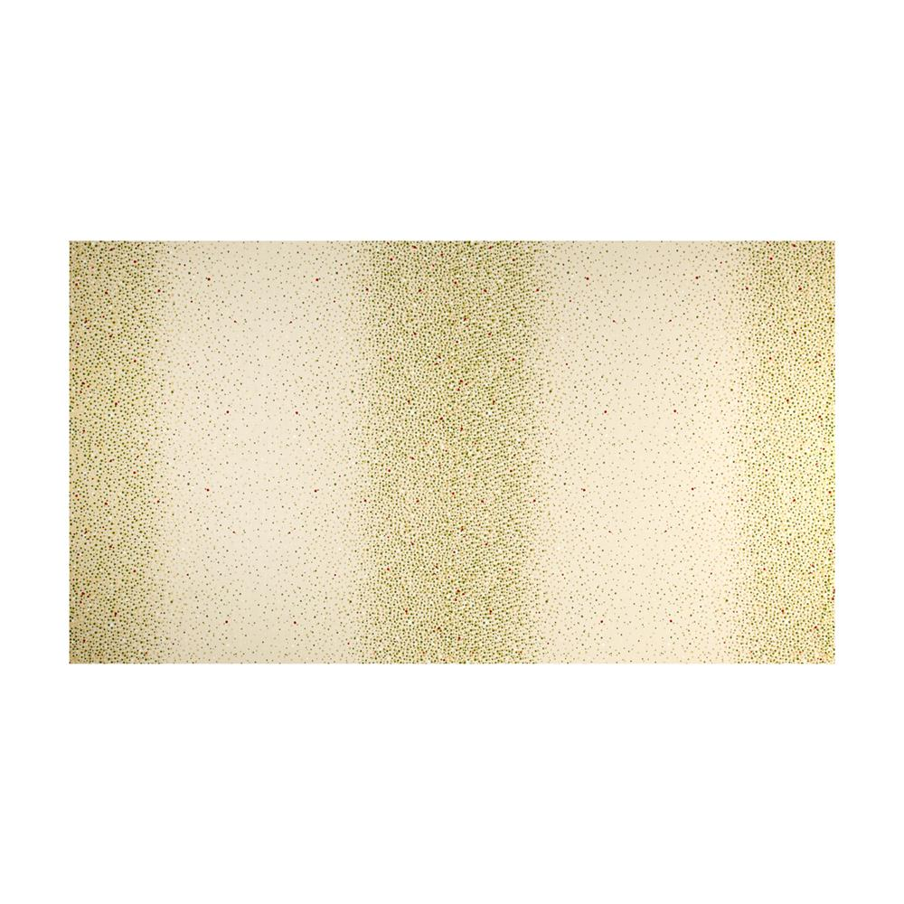 Kaufman Winter's Grandeur 4 Metallics Double Border Dots Natural Fabric