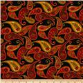 Autumn Abundance Paisley Black