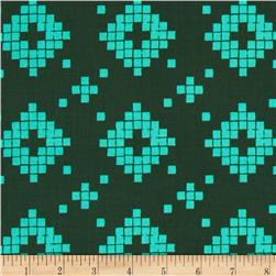 Cotton + Steel Mesa Tile Green