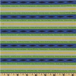 Circle of Life Stripe Royal/Lime