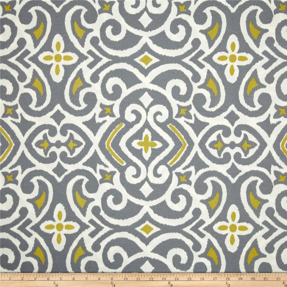 Robert Allen @ Home Indoor/Outdoor Baja Damask Greystone