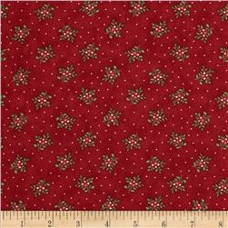 Moda Under the Mistletoe Tiny Holly Crimson